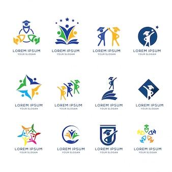 Technologische logo sjabloonverzameling