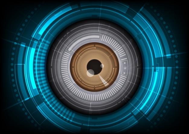 Technologische oogachtergrond