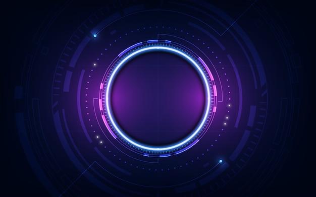 Technologische toekomstige interface hud platform abstracte achtergrond sjabloon