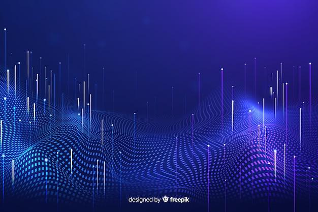 Technologische vallende deeltjes donkere achtergrond