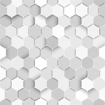 Technologische wetenschap vector zeshoekige naadloze patroon