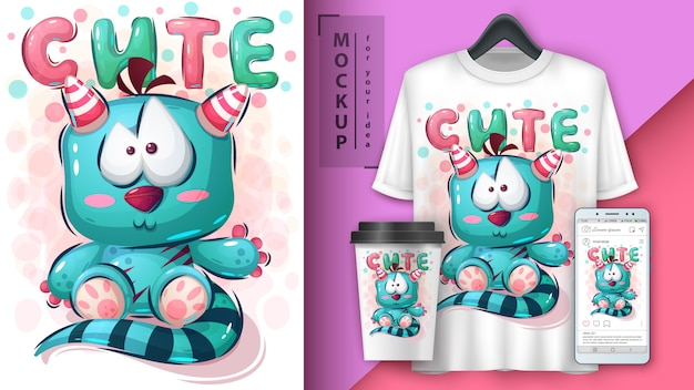 Teddy monster poster en merchandising