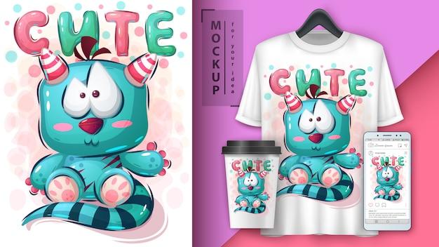 Teddy monster poster en merchandising