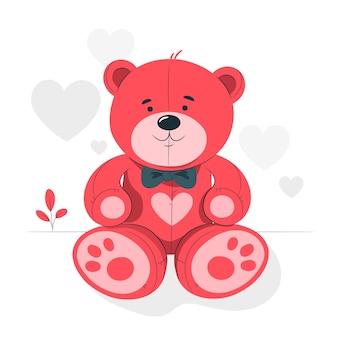 Teddybeer concept illustratie