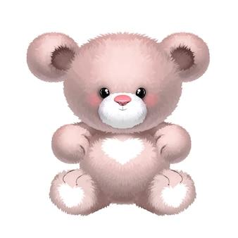 Teddybeer illustratie geïsoleerd