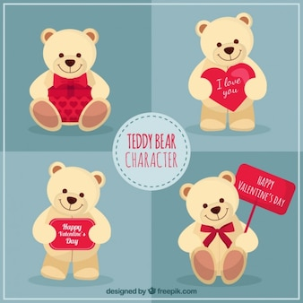 Teddybeer karakter valentijnsdag