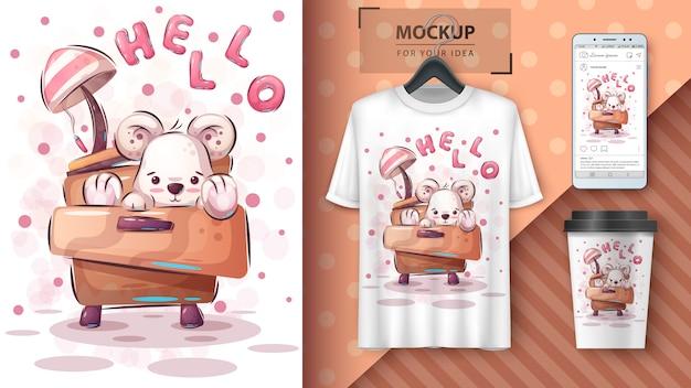 Teddybeer poster en merchandising