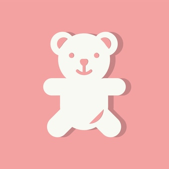 Teddybeer valentijnsdag pictogram