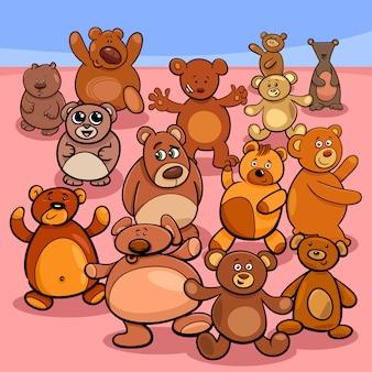 Teddyberen groep cartoon illustratie