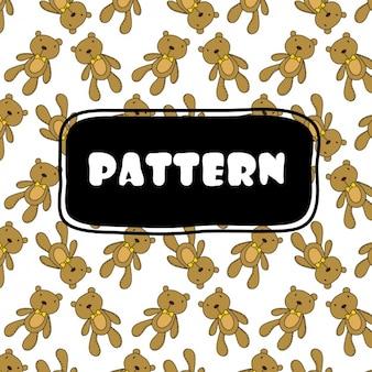 Teddyberen patroon ontwerp