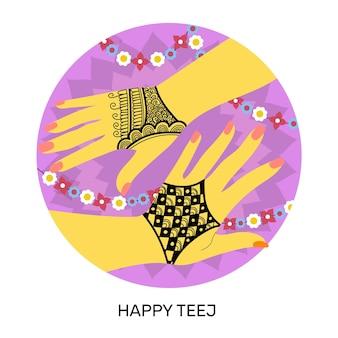 Teej festival illustratie