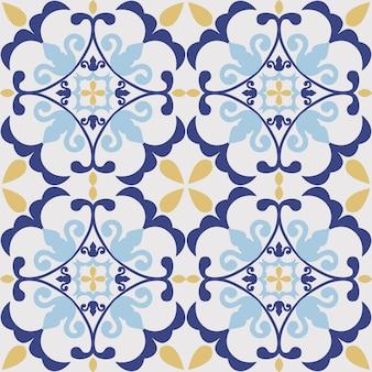 Tegel naadloos patroonontwerp. met kleurrijk motief
