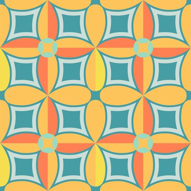Tegel naadloos patroonontwerp met kleurrijke motievenachtergrond
