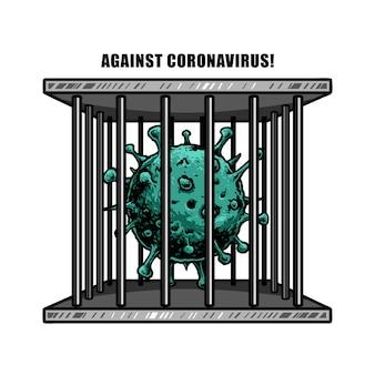 Tegen corona virus ontwerp illustratie