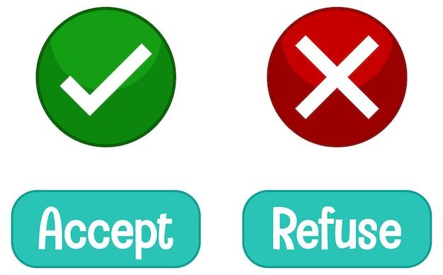 Tegenover woorden met accepteren en weigeren