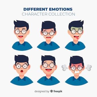 Teken dat emotiesverzameling toont