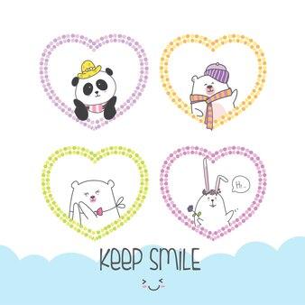 Teken dierlijke leuke cartoon