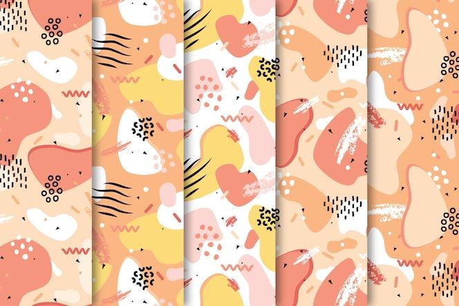 Teken met kleurrijk patrooncollectie behang
