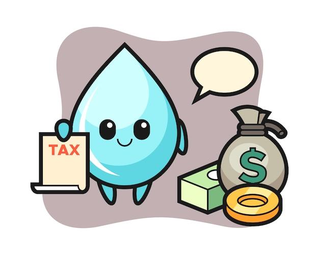 Tekenbeeldverhaal van waterdaling als accountant, leuk stijlontwerp voor t-shirt
