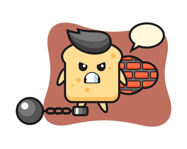 Tekenbrood als een gevangene