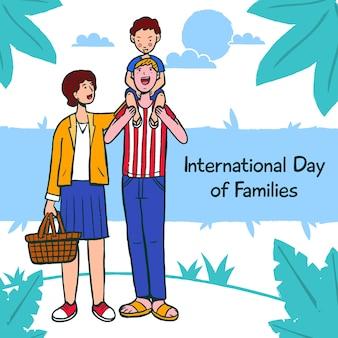Tekenen met internationale dag van gezinnen