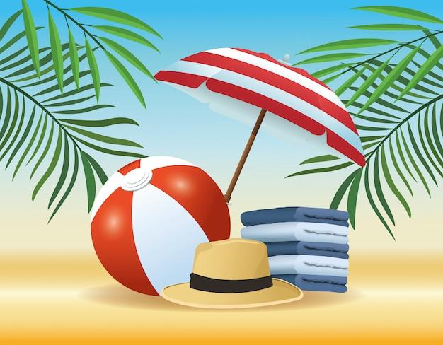 Tekenfilms voor de zomer en het strand