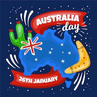 Tekening concept voor de dag van australië