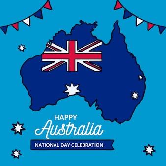 Tekening met de nationale dag van australië