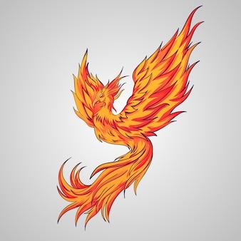 Tekening met phoenix-ontwerp