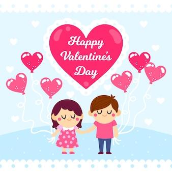 Tekening met valentijnsdagthema