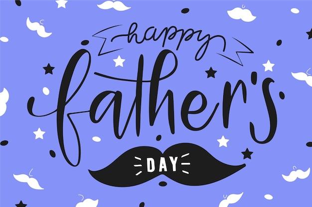 Tekening vaders dag concept