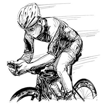 Tekening van de fietswedstrijd