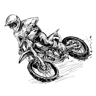 Tekening van de motorwedstrijd