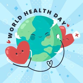 Tekening van de wereldgezondheidsdag