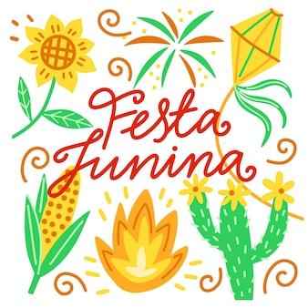 Tekening van festa junina