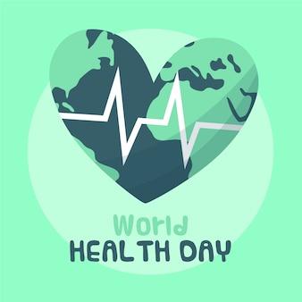 Tekening van het thema van de wereldgezondheidsdag