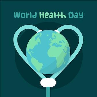 Tekening van wereld gezondheid dag concept