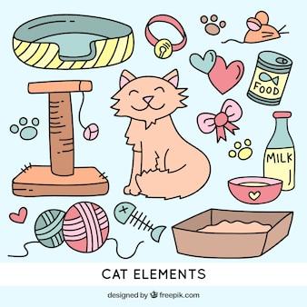 Tekeningen kat elementen