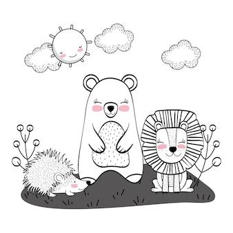 Tekeningen van wilde dieren