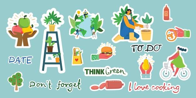Tekens en symbolen voor het organiseren van uw dagboeksjabloon
