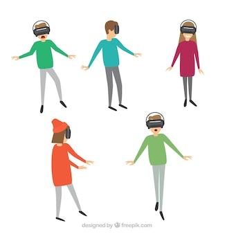 Tekens met virtual reality bril