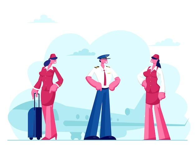 Tekens van luchtvaartpersoneel