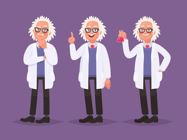 Tekenset van een wetenschapper