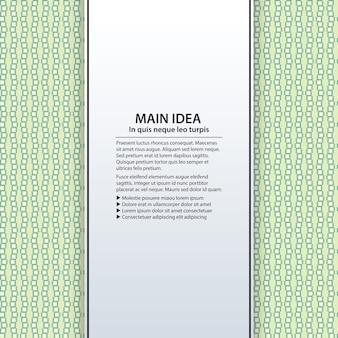 Tekst achtergrond met kleurrijk patroon. handig voor presentaties, reclame en webdesign.