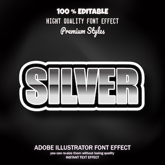 Tekst, bewerkbaar lettertype-effect