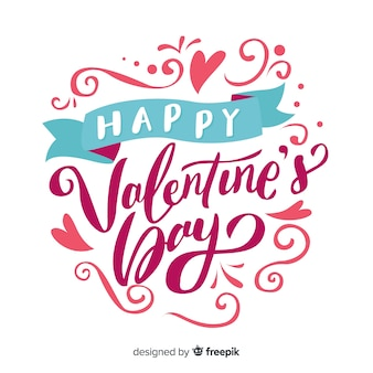 Tekst en ornamenten valentijn achtergrond