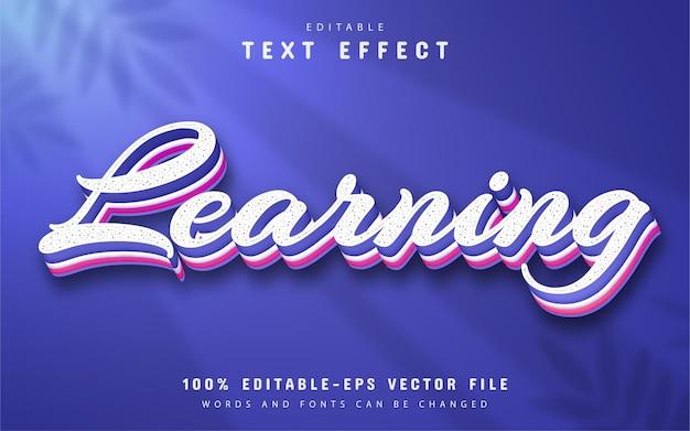 Tekst leren, bewerkbaar 3d-teksteffect