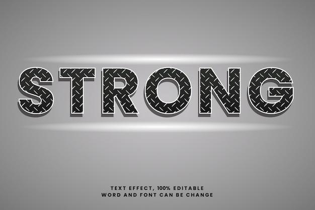 Tekst met ijzeren textuur effect