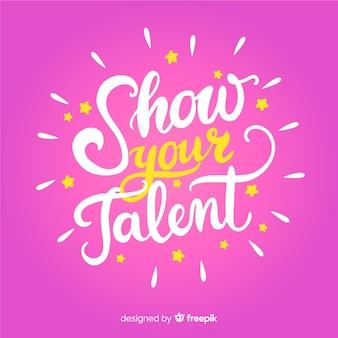 Tekst op zoek talent achtergrond