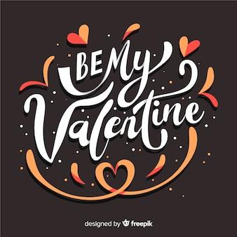 Tekst valentijn achtergrond